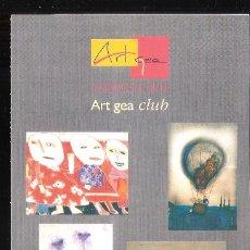 Varios objetos de Arte: ART GEA CLUB. ART GEA, GALERÍA DE ARTE. TORREMOLINOS. DIPTICO PUBLICITARIO- 21 X 10 CM.. Lote 194605282