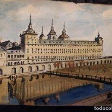 Varios objetos de Arte: PRECIOSO ANTIGUO DIBUJO PALACIO RÍO FIRMADO PATALUÑA ? CATALUÑA? PAPEL ACARTONADO. Lote 194644258