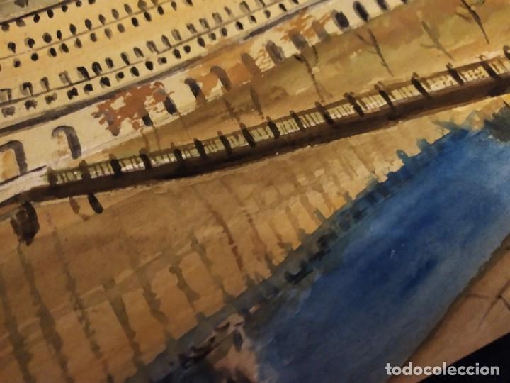 Varios objetos de Arte: PRECIOSO ANTIGUO DIBUJO MONASTERIO ESCORIAL PALACIO FIRMADO PATALUÑA ? CATALUÑA? PAPEL ACARTONADO - Foto 16 - 194644258