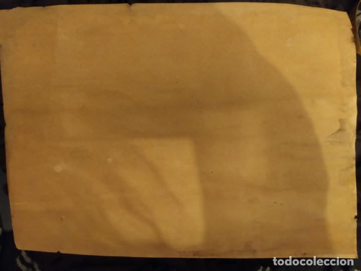 Varios objetos de Arte: PRECIOSO ANTIGUO DIBUJO MONASTERIO ESCORIAL PALACIO FIRMADO PATALUÑA ? CATALUÑA? PAPEL ACARTONADO - Foto 20 - 194644258