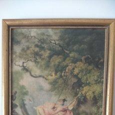 Varios objetos de Arte: ANTIGUO CUADRO CON IMPRESIÓN EN TELA. Lote 194645601