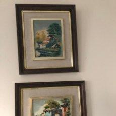 Varios objetos de Arte: 2 CUADROS ANTIGUOS . Lote 194695992