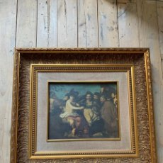 Varios objetos de Arte: MARCO DORADO DE MADERA CON LÁMINA. Lote 194699482