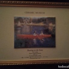 Varios objetos de Arte: BOATINE ON THE SEINE. PIERRE AUGUSTE RENOIR. CERAMICA. NATIONAL GALLERY DE LONDRES.. Lote 194713901