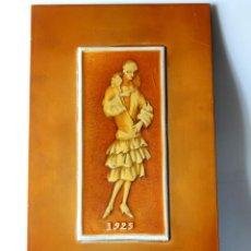 Varios objetos de Arte: CUADRO DE MUJER DE MODA AÑOS 20 MARCADO 1925, POSIBLEMENTE MARQUETERÍA. Lote 194783420