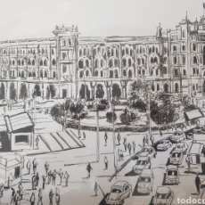 Varios objetos de Arte: DIBUJO A TINTA ORIGINAL JOSE G. ALCALA : MADRID CLASICO 3. Lote 194785005