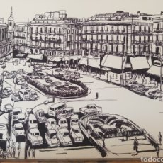 Varios objetos de Arte: DIBUJO A TINTA ORIGINAL JOSE G. ALCALA : MADRID CLASICO 6. Lote 194786558