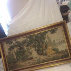 Varios objetos de Arte: ANTIGUO CUADRO TAPIZ!. Lote 194883976