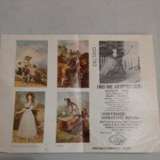 Varios objetos de Arte: GOYA ASOCIACION ASMON DONATIVO PREMIO VIDEO SONY 1983 VALENCIA. Lote 194884485