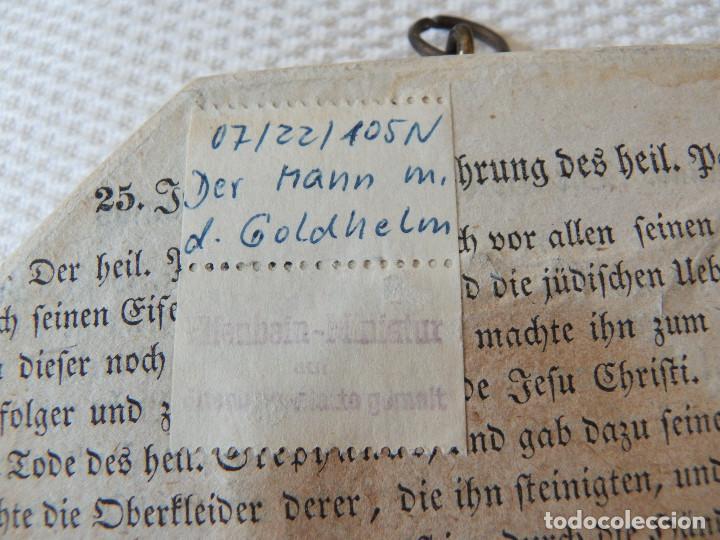 Varios objetos de Arte: Miniatura pintada a mano. Firmado. Con marco original, sin abrir. Buen estado. - Foto 6 - 194886280