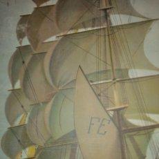 Varios objetos de Arte: DOS CARTELES DE BARCOS ANTIGUOS 750. Lote 194973531
