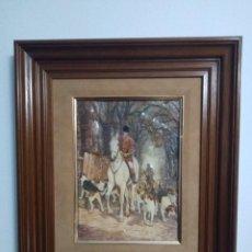 Varios objetos de Arte: CUADRO. ESCENA CAZA.. Lote 194990885