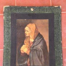 Varios objetos de Arte: LAMINA PEGADA A CARTÓN CON IMAGEN DE LA VIRGEN. Lote 195004321
