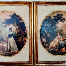 Varios objetos de Arte: ANTIGUAS REPRODUCCIONES EN TABLA ESCENAS DE ÉPOCA. Lote 195101061