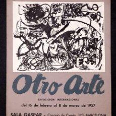 Varios objetos de Arte: OTRO ARTE - 1957 - CARTEL EXPOSICIÓN EN SALA GASPAR - JACKSON POLLOCK. Lote 195116225