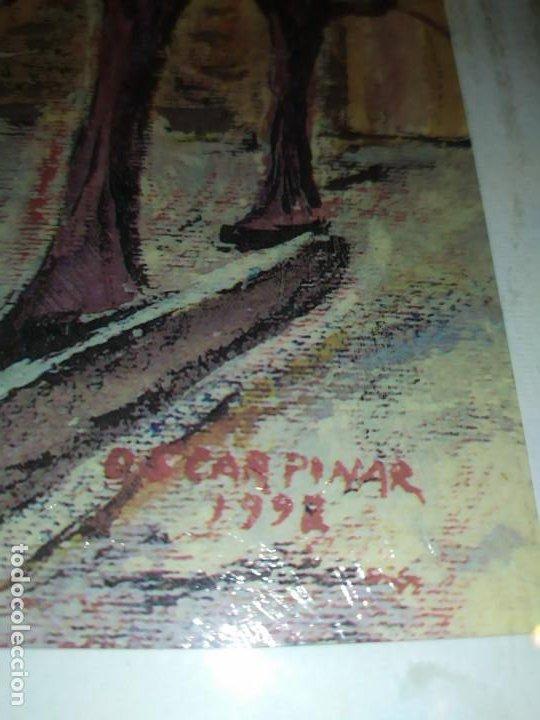 Varios objetos de Arte: ÓSCAR PINAR ÁLVARO 1998 PLÁSTICA FIGURATIVA CUADRO PINTURA ENMARCADO PLAZA CUENCA ÚNICO EN VENTA TC - Foto 2 - 195137753