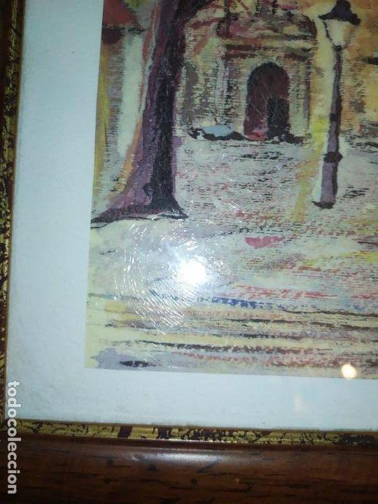 Varios objetos de Arte: ÓSCAR PINAR ÁLVARO 1998 PLÁSTICA FIGURATIVA CUADRO PINTURA ENMARCADO PLAZA CUENCA ÚNICO EN VENTA TC - Foto 8 - 195137753