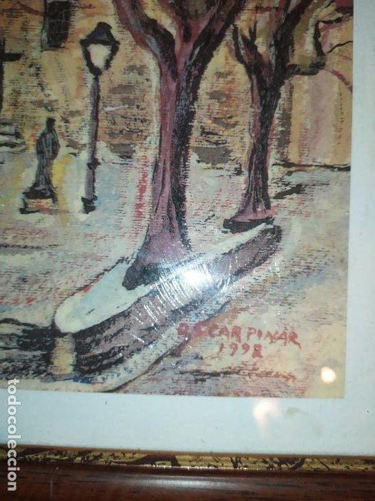 Varios objetos de Arte: ÓSCAR PINAR ÁLVARO 1998 PLÁSTICA FIGURATIVA CUADRO PINTURA ENMARCADO PLAZA CUENCA ÚNICO EN VENTA TC - Foto 9 - 195137753