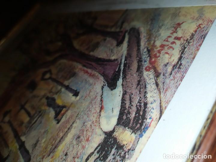 Varios objetos de Arte: ÓSCAR PINAR ÁLVARO 1998 PLÁSTICA FIGURATIVA CUADRO PINTURA ENMARCADO PLAZA CUENCA ÚNICO EN VENTA TC - Foto 11 - 195137753
