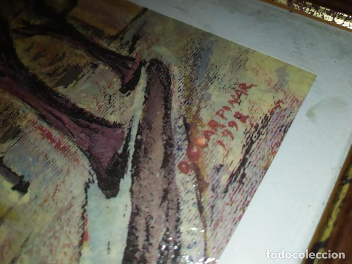 Varios objetos de Arte: ÓSCAR PINAR ÁLVARO 1998 PLÁSTICA FIGURATIVA CUADRO PINTURA ENMARCADO PLAZA CUENCA ÚNICO EN VENTA TC - Foto 12 - 195137753