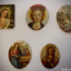 Varios objetos de Arte: MINIATURAS DE TEMÁTICA RELIGIOSA PINTADAS SOBRE MARFIL. Lote 195147216