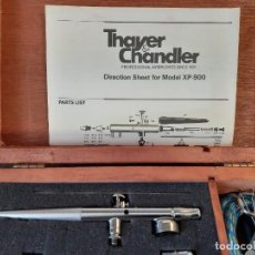 Varios objetos de Arte: KIT DE AERÓGRAFO ESTILO VINTAGE 1980 THAYER & CHANDLER XP-900. Lote 195199891