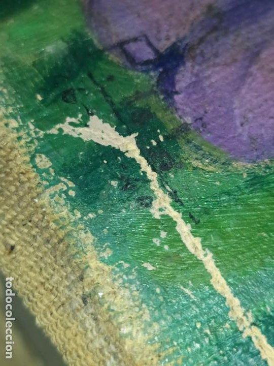 Varios objetos de Arte: LOTE ANTIGUOS ÓLEO SOBRE LIENZO FLORES SOBRE PAISAJE COSTA ISLA PRECIOSOS AÑOS 40 FIRMADOS P.YSLA - Foto 3 - 195210358