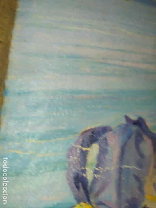 Varios objetos de Arte: LOTE ANTIGUOS ÓLEO SOBRE LIENZO FLORES SOBRE PAISAJE COSTA ISLA PRECIOSOS AÑOS 40 FIRMADOS P.YSLA - Foto 14 - 195210358