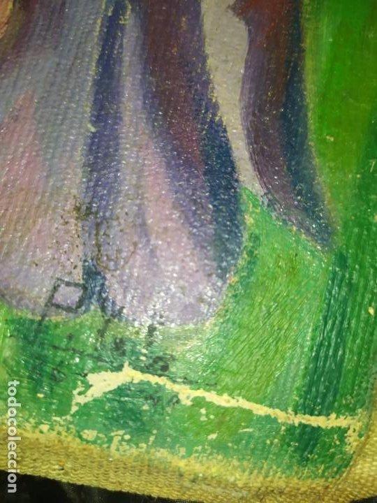 Varios objetos de Arte: LOTE ANTIGUOS ÓLEO SOBRE LIENZO FLORES SOBRE PAISAJE COSTA ISLA PRECIOSOS AÑOS 40 FIRMADOS P.YSLA - Foto 18 - 195210358