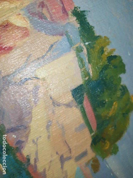 Varios objetos de Arte: LOTE ANTIGUOS ÓLEO SOBRE LIENZO FLORES SOBRE PAISAJE COSTA ISLA PRECIOSOS AÑOS 40 FIRMADOS P.YSLA - Foto 22 - 195210358