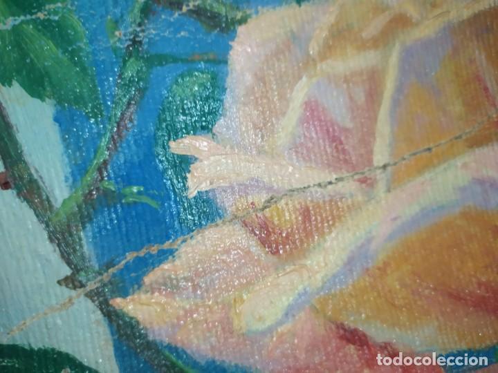 Varios objetos de Arte: LOTE ANTIGUOS ÓLEO SOBRE LIENZO FLORES SOBRE PAISAJE COSTA ISLA PRECIOSOS AÑOS 40 FIRMADOS P.YSLA - Foto 24 - 195210358