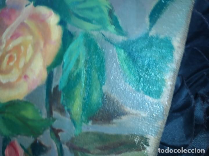 Varios objetos de Arte: LOTE ANTIGUOS ÓLEO SOBRE LIENZO FLORES SOBRE PAISAJE COSTA ISLA PRECIOSOS AÑOS 40 FIRMADOS P.YSLA - Foto 26 - 195210358