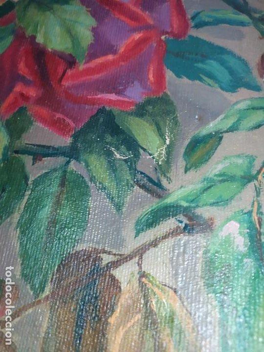 Varios objetos de Arte: LOTE ANTIGUOS ÓLEO SOBRE LIENZO FLORES SOBRE PAISAJE COSTA ISLA PRECIOSOS AÑOS 40 FIRMADOS P.YSLA - Foto 27 - 195210358
