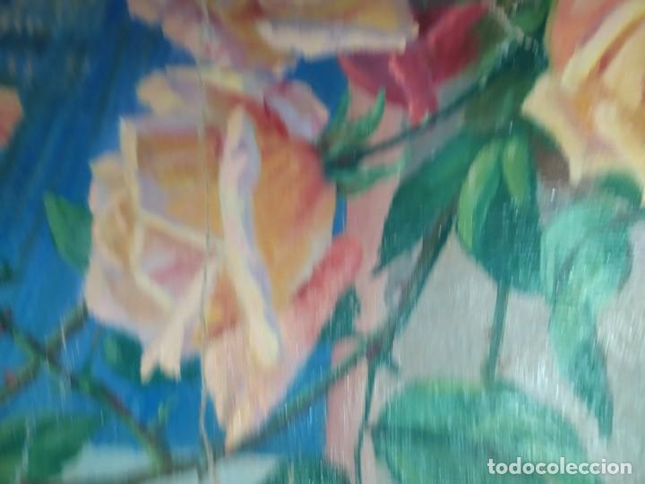 Varios objetos de Arte: LOTE ANTIGUOS ÓLEO SOBRE LIENZO FLORES SOBRE PAISAJE COSTA ISLA PRECIOSOS AÑOS 40 FIRMADOS P.YSLA - Foto 35 - 195210358