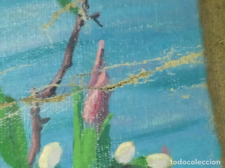 Varios objetos de Arte: LOTE ANTIGUOS ÓLEO SOBRE LIENZO FLORES SOBRE PAISAJE COSTA ISLA PRECIOSOS AÑOS 40 FIRMADOS P.YSLA - Foto 36 - 195210358