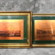 Varios objetos de Arte: PAREJA DE COBRES PALACIO DE ARANJUEZ. Lote 195288135