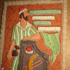 Varios objetos de Arte: ANTIGUO CUADRO RELIEVE COMPARSA ALTOZANO FIESTAS ALICANTE LOTERIA CAPITANIA MORA 1997 FIRMADO. Lote 194736892