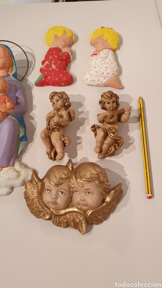Varios objetos de Arte: LOTE 7 FIGURAS VINTAGE DE YESO PARA COLGAR EN LA PARED/ MIREN LAS FOTOGRAFÍAS! - Foto 7 - 195329057