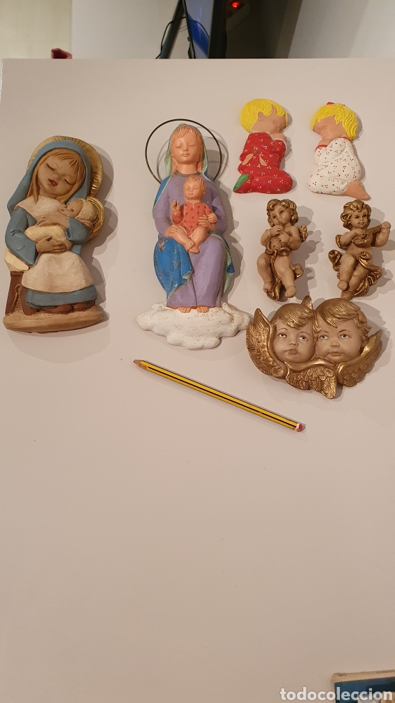 Varios objetos de Arte: LOTE 7 FIGURAS VINTAGE DE YESO PARA COLGAR EN LA PARED/ MIREN LAS FOTOGRAFÍAS! - Foto 8 - 195329057