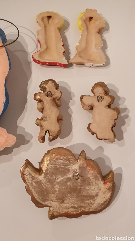 Varios objetos de Arte: LOTE 7 FIGURAS VINTAGE DE YESO PARA COLGAR EN LA PARED/ MIREN LAS FOTOGRAFÍAS! - Foto 10 - 195329057