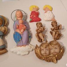 Varios objetos de Arte: LOTE 7 FIGURAS VINTAGE DE YESO PARA COLGAR EN LA PARED/ MIREN LAS FOTOGRAFÍAS!. Lote 195329057