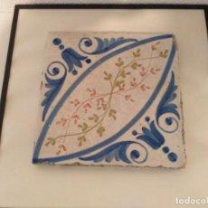 Varios objetos de Arte: LOTE DE 14 AZULEJOS ANTIGUOS ENMARCADOS. Lote 195347273