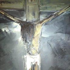 Varios objetos de Arte: CRISTO AL ÓLEO DE IGNACIO DEL RÍO.. Lote 195382382