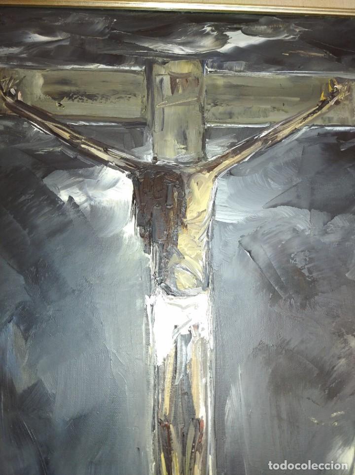 Varios objetos de Arte: Cristo al óleo de Ignacio del Río. - Foto 2 - 195382382