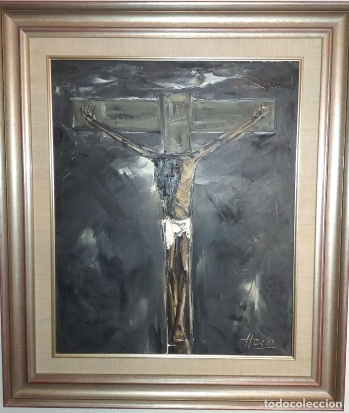 Varios objetos de Arte: Cristo al óleo de Ignacio del Río. - Foto 3 - 195382382