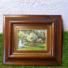 Varios objetos de Arte: CUADRO ANTIGUO ESMALTADO. Lote 195394083