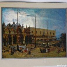 Varios objetos de Arte: CUADRO LÁMINA VENECIA PLAZA SAN MARCOS 21X15,50CM. Lote 195399673