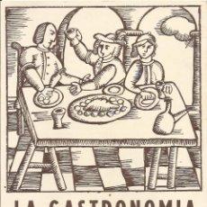 Varios objetos de Arte: DÍPTICO LA GASTRONOMIA UN TEMA PICTÒRIC. SALA FUSET. MATARÓ. ALCOY, ARENAS, NOVELLAS, CUSACHS....... Lote 195410993