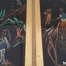 Varios objetos de Arte: 2 CUADROS EGIPTO AÑO 1930S PINTADO A MANO SOBRE CRISTAL. Lote 195434193