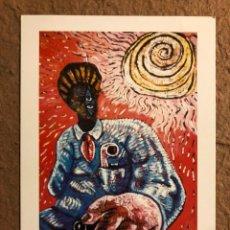 Varios objetos de Arte: SAULO MERCADER. POSTAL SIN CIRCULAR INVITACIÓN INAUGURACIÓN EXPOSICIÓN L'OEIL DE BOEUF (PARIS), 1986. Lote 195774798